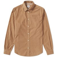 Norse Projects Osvald Corduroy Pocket Shirt Brown