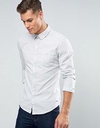 Esprit Brushed Marl Button Down Shirt In Slim Fit Ecru Cream