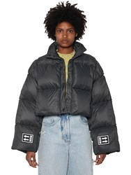 Off White Cropped Down Jacket Black