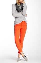 Level 99 Moto Liza Crop Zip Skinny Jean Orange