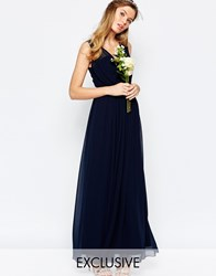 Vila Cinched Waist Maxi Dress Navy