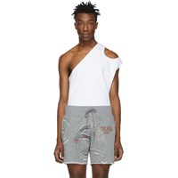 Telfar White Asymmetric Tank Top