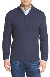 Men's Nordstrom Texture Cotton And Cashmere Quarter Zip Sweater