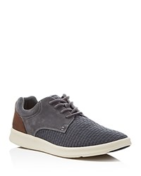 Ugg Hepner Woven Lace Up Sneakers Metal