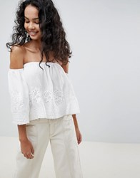 Qed London Off Shoulder Top White