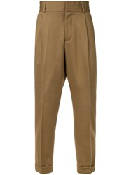 Kent And Curwen Chinos With Roll Up Cuffs Cotton Polyamide Wool Brown