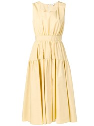 Aspesi Midi Flared Dress Yellow