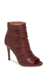 Bcbgmaxazria Bcbg Elle Open Toe Bootie Brick Faux Leather