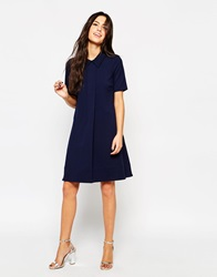 Traffic People Preppy Loves Audrey Coat Dress Navy