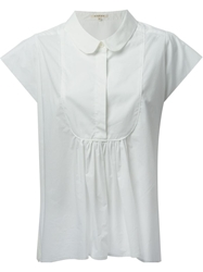 Hache Peter Pan Collar Shirt White