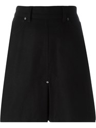 Jean Paul Gaultier Vintage Pleat Insert Mini Skirt Black