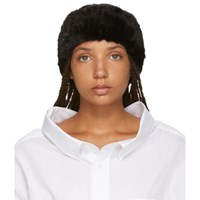 Yves Salomon Black Mink Headband