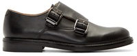 Carven Black Leather Monky Loafers