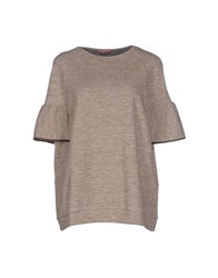 Rose' A Pois Topwear T Shirts Women Light Brown