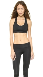 Koral Activewear Divine Sports Bra Shiny Black Infinity