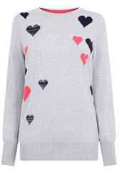 Oasis Heart Cosy Knit Grey