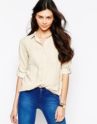Mih Jeans Double Pocket Shirt Oat