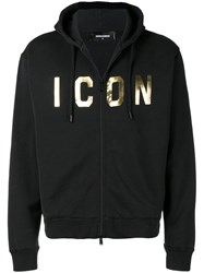 Dsquared2 Icon Print Hoodie Black