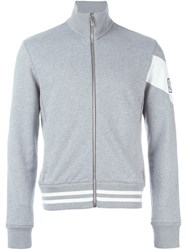 Moncler Gamme Bleu Roll Neck Zipped Cardigan Grey