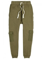 Blood Brother Britt Dropped Crotch Cotton Trousers Khaki