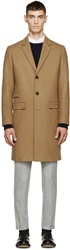 Tiger Of Sweden Tan Wool Dempsey 9 Coat