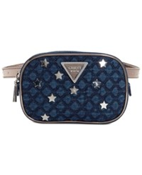 Guess Varsity Pop Mini Belt Bag Denim