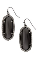 Kendra Scott Women's 'Elle' Drop Earrings Gunmetal Black Opaque Glass