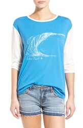 Women's Volcom 'Far Out' Three Quarter Sleeve Graphic Tee