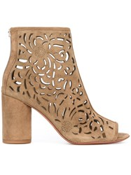 Ash Fever Cut Out Detail Boots Nude Neutrals