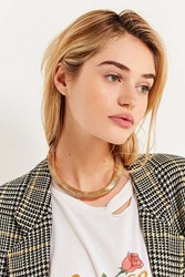 Urban Outfitters Accordion Statement Necklace Gold