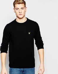 Lyle And Scott Jumper In Lambswool Crew Neck Black