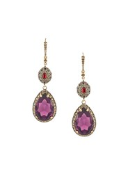 Alexander Mcqueen Crystal Drop Earrings Metallic
