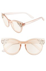 Leith 'S 52Mm Crystal Embellished Round Sunglasses Crystal Nude