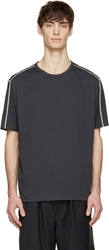 3.1 Phillip Lim Washed Black Contrast Stitch T Shirt