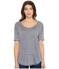 Jag Jeans Caf Tee In Burnout Jersey Grey Stone Women's T Shirt Gray