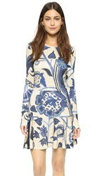 Just Cavalli Victoria Print Long Sleeve Dress Denim Variant