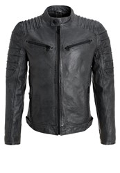 Gipsy Coulter Leather Jacket Antracite Anthracite