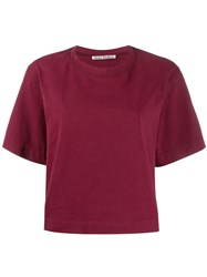 Acne Studios Boxy Fit Logo T Shirt Red