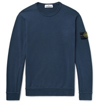Stone Island Loopback Cotton Jersey Sweatshirt Navy