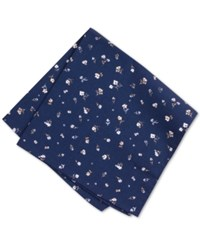 Bar Iii Men's Floral Pocket Square Only At Macy's Midnight Floral