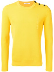 Givenchy Embroidered Logo Sweater Yellow