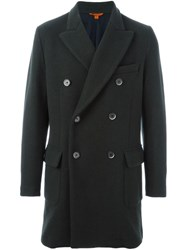 Barena Double Breasted Coat Green