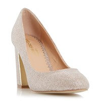 Head Over Heels Arista Block Heel Court Shoes Gold