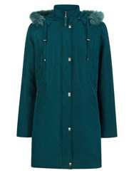 Eastex Long Hooded Raincoat Green