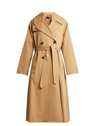 Nili Lotan Topher Belted Cotton Gabardine Trench Coat Tan