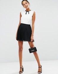 Asos Pleated Mini Skirt Black