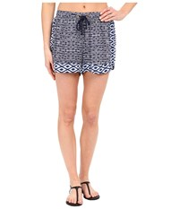 Sperry Island Time Ikat Beach Shorts Midnight Women's Swimwear Navy