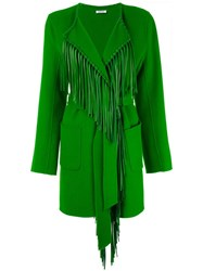 P.A.R.O.S.H. Fringed Lapel Cardigan Green