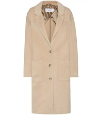 Closed Wool And Cashmere Coat Beige