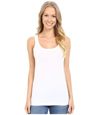 Lilla P Layering Scoop Tank Top White Women's Sleeveless